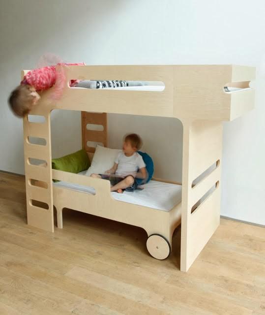 Детская двухъярусная кровать из фанеры своими руками